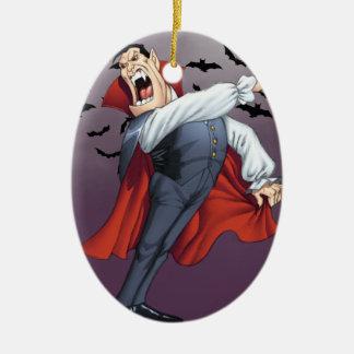Alリオによるこうもりを持つおもしろいな漫画の吸血鬼 セラミックオーナメント