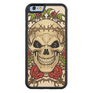 Alリオによるイバラの冠を持つスカルそしてバラ CarvedメープルiPhone 6バンパーケース