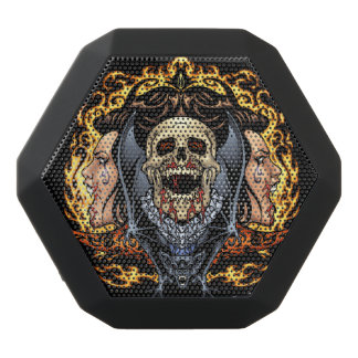 Alリオによるスカル、吸血鬼およびこうもりのゴシック様式デザイン ブラックブルートゥーススピーカー