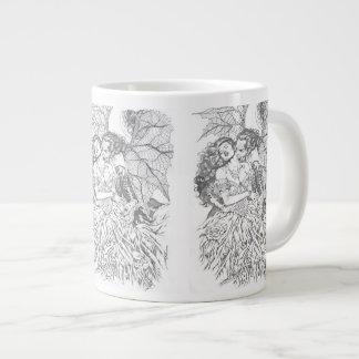 Alリオによる吸血鬼のキス-吸血鬼および女性の芸術 ジャンボコーヒーマグカップ
