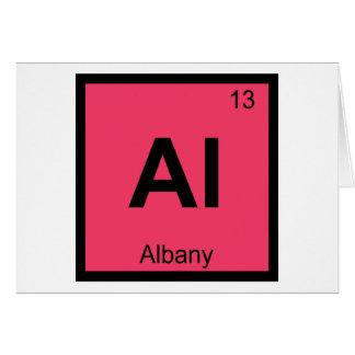 Al -アルバニーニューヨーク化学周期表都市 カード