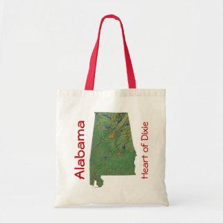 Alabamanの地図のバッグ トートバッグ