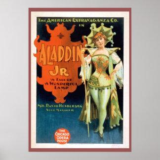 Aladdinジュニアのヴィンテージの劇場ポスター ポスター
