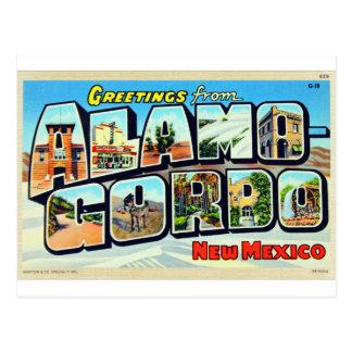 AlamogordoのNMの手紙の郵便はがきからの挨拶 ポストカード