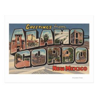 Alamongordo、ニューメキシコ-大きい手紙場面 ポストカード
