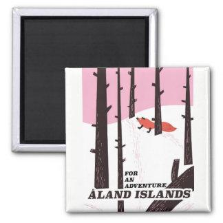 Ålandの島、フィンランド旅行ポスター マグネット