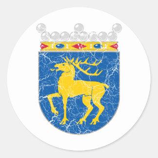 Alandの紋章付き外衣 ラウンドシール