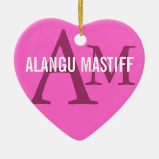 Alanguのマスティフの品種モノグラム セラミックオーナメント