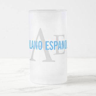 Alanoのスペインの品種モノグラム フロストグラスビールジョッキ