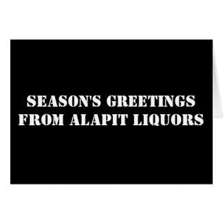 ALAPITのアルコール飲料からの季節のごあいさつ カード