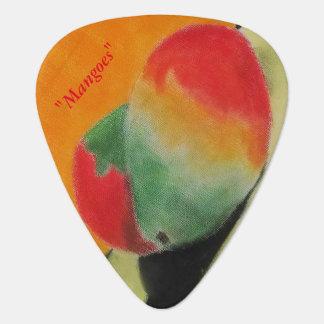 "ALarsenArtist著""マンゴ""が付いているギターピック ギターピック"