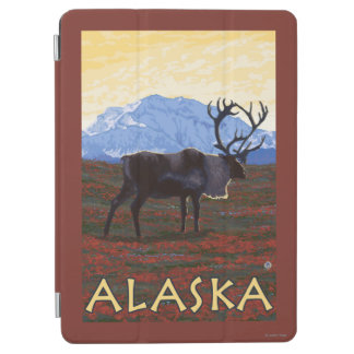 AlaskaCaribouのヴィンテージ旅行ポスター iPad Air カバー