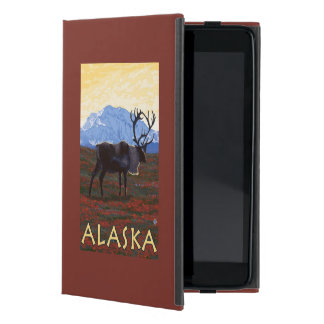 AlaskaCaribouのヴィンテージ旅行ポスター iPad Mini ケース