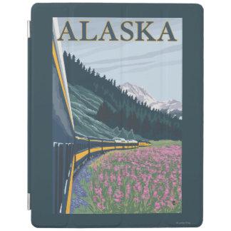 AlaskaRailroadおよびFireweedのヴィンテージ旅行 iPadスマートカバー
