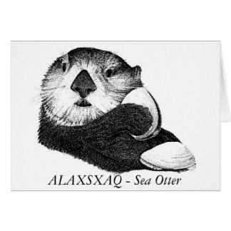 ALAXSXAQ -メッセージカード-ラッコのグラフィック カード