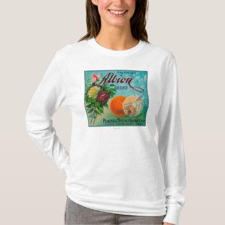 Albionのブランドの柑橘類の木枠のラベル Tシャツ