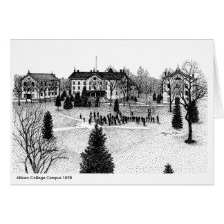 Albionの大学キャンパス1898年 カード