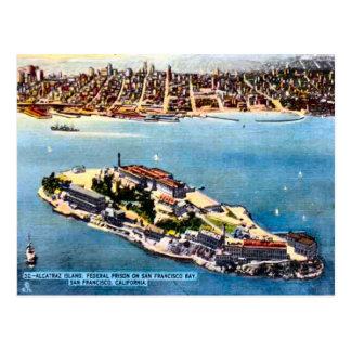Alcatrazの刑務所の島、サンフランシスコ ポストカード
