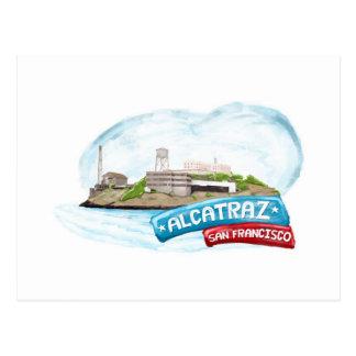 Alcatrazの刑務所サンフランシスコ ポストカード