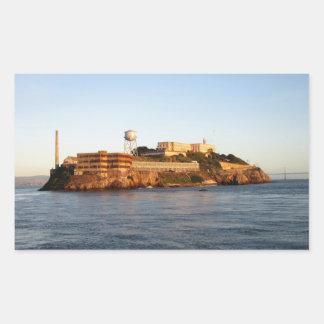 Alcatrazの刑務所 長方形シール