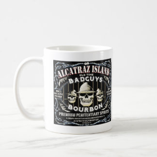 ALCATRAZの悪者のブルボンラベルのマグ コーヒーマグカップ