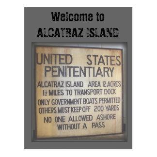 ALCATRAZへの歓迎 ポストカード