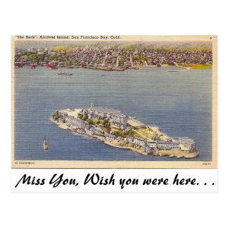 Alcatraz、サンフランシスコ、カリフォルニア ポストカード