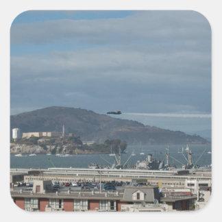 Alcatraz.jpgへのブルーエンジェルの頭部 スクエアシール