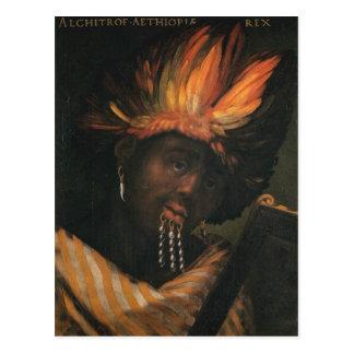 Alchitrofのエチオピアの郵便はがきの皇帝 ポストカード