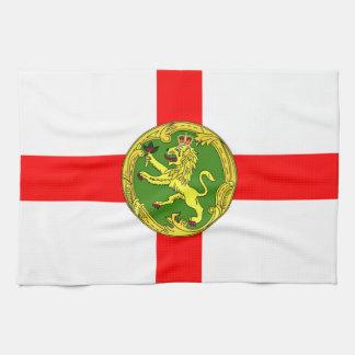 Alderneyの旗のガーンジーの記号イギリス キッチンタオル