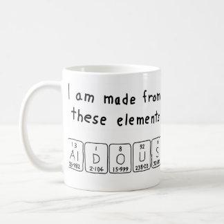 Aldousの周期表の名前のマグ コーヒーマグカップ