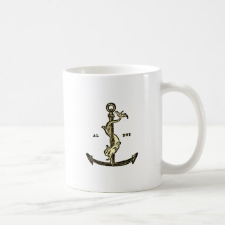 Aldus Manutiusのいかりのコーヒー・マグ コーヒーマグカップ
