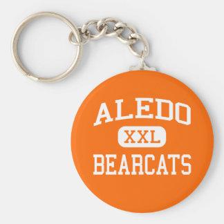 Aledo -闘士- Aledoの高等学校- Aledoテキサス州 ベーシック丸型缶キーホルダー