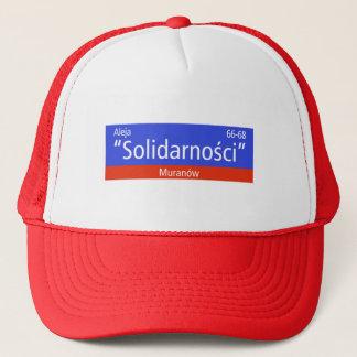 """Aleja """"Solidarnosci""""、ワルシャワのポーランドの道路標識 キャップ"""