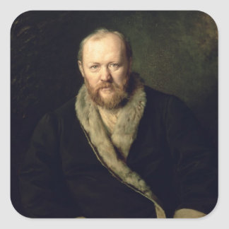 Aleksandr Ostrovsky 1871年のポートレート スクエアシール