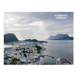 Alesundのノルウェー海、ノルウェーの眺め ポストカード