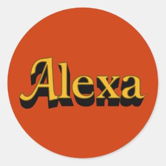 Alexaのステッカー ラウンドシール