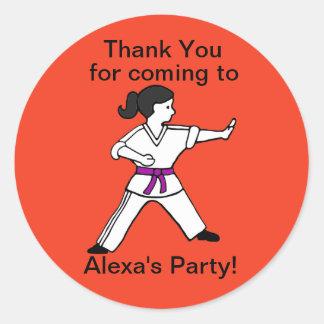 Alexaの武道のパーティーはステッカー感謝していしています ラウンドシール
