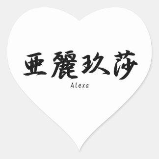 Alexaは日本のな漢字の記号に翻訳しました ハートシール