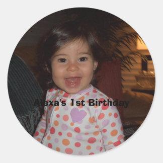 Alexa 5-07 033、Alexaの第1誕生日 ラウンドシール