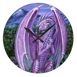 Alexandriteのドラゴンの柱時計 ラージ壁時計