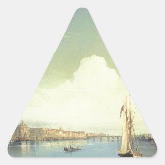 Alexey Bogolyubov著日没のセント・ピーターズバーグ 三角形シール