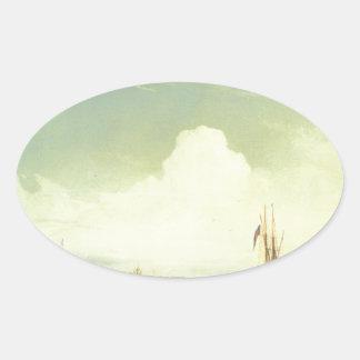Alexey Bogolyubov著日没のセント・ピーターズバーグ 楕円形シール