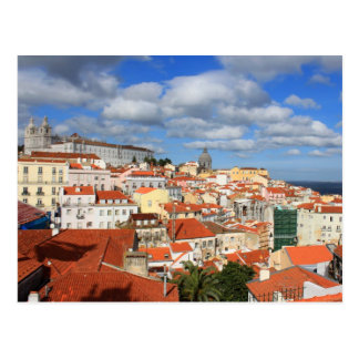Alfamaリスボンの屋上 ポストカード