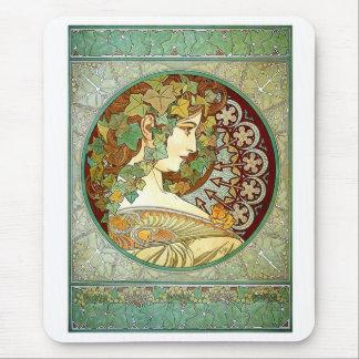 """Alfons Mucha , """" Ivy """" マウスパッド"""