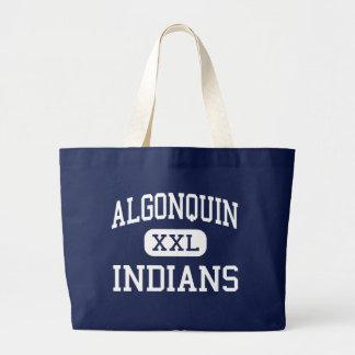Algonquin -インディアン-後輩- Des Plaines ラージトートバッグ