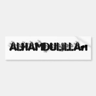Alhamdulillah バンパーステッカー