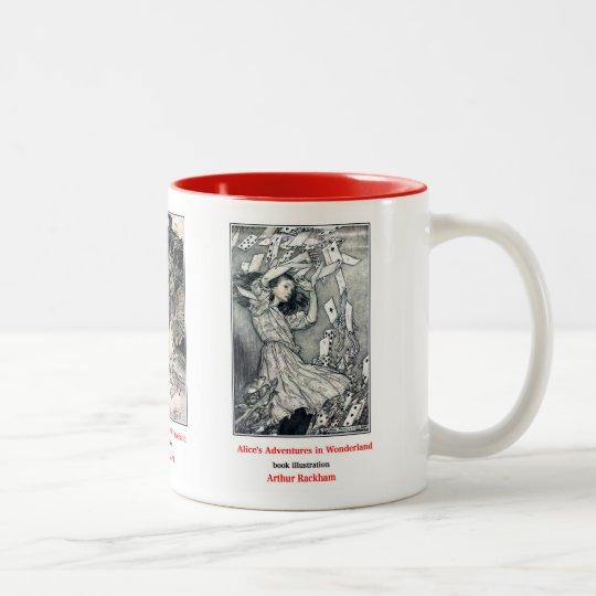 Alice in Wonderland , Arthur Rackham ツートーンマグカップ