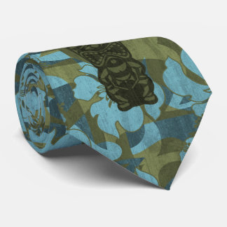 Ali'iの非難のTikiのハイビスカスのネクタイ オリジナルネクタイ
