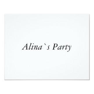 Alina 10.8 X 14 インビテーションカード
